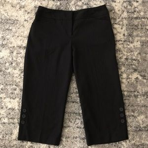 Apt.9 Stretch AVA Black Striped Cropped Pants